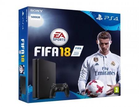 Konzola PS4 500GB + Fifa18 + Dualshock 4