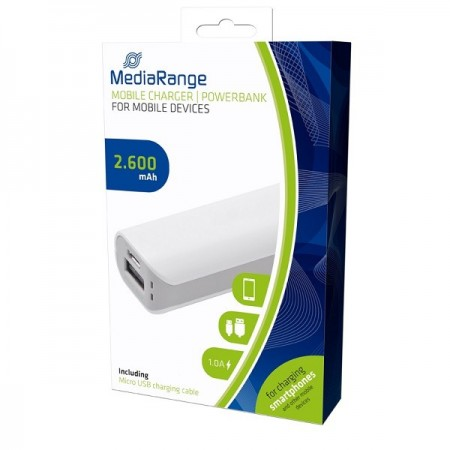MEDIARANGE GERMANY POWER BANK 2.600MAH MOBILE CHARGER MR745 (PUNA2.6/Z)