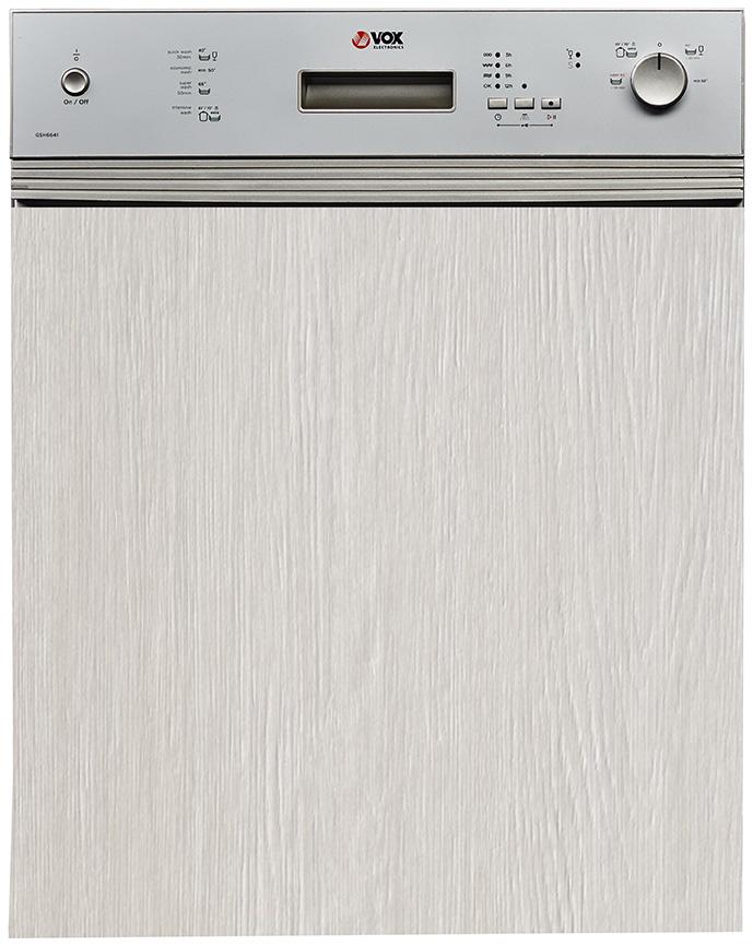 VOX GSH 6641 60cm, poluintegrisana, A+AA,5 programa,4 temperature pranja,odlozen start, metalni filter