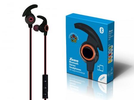 Xwave MX85 red BT stereo slusalice sa mikrofonom v4.2, Baterija 80mAh, 5sati razgovor, 10m udaljenost, Crvena
