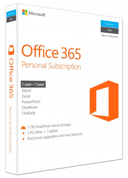 Office 365 Personal EN Sub 1YR CentralEastern Euro Only Medialess P2