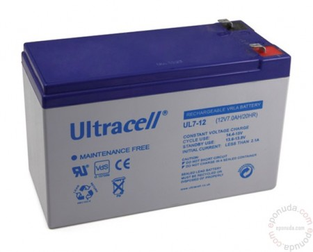 Battery 12V / 7.0Ah UPS ( UL7-12 )