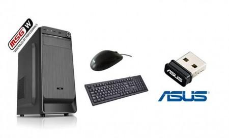 MSG-B ORION 202 Intel Celeron J1800 4GB 500GB Intel HD MidiTower  + Asus Wireless USB-N10