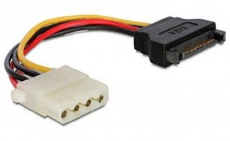 Gembird CC-SATA-PS-M SATA (male) to Molex (female) power cable, 0.15 m