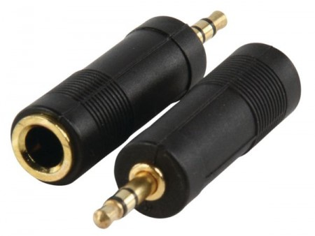 AC-005GOLD 3.5mm stereo plug to 6.35mm stereo socket