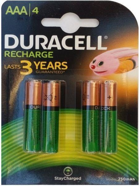 Duracell 750mAh AAA Punjive Baterije