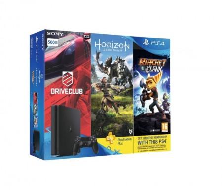 Konzola Sony PS4 500GB + 3 igre + PS + 90 dana