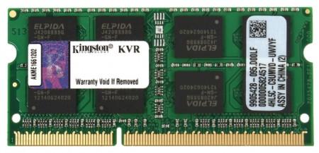 Kingston SODIMM DDR3 8GB 1600MHz KVR16S118 1.5V