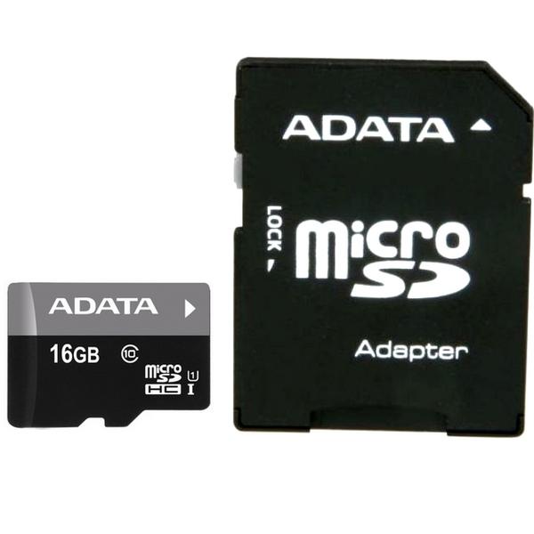 AData MICRO SD 16GB + SD adapter AUSDH16GUICL10-RA1