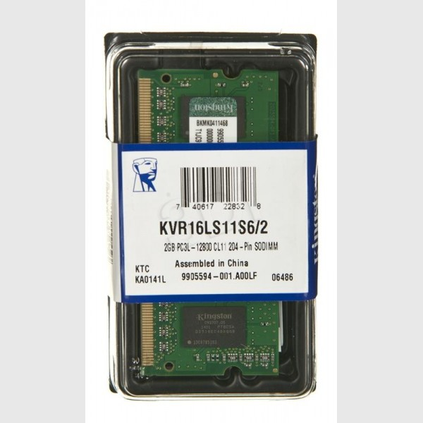 Kingston SODIMM DDR3 2GB 1600MHz KVR16LS11S62 1.35V