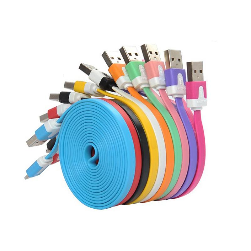 Xwave USB flat color kabl 1m