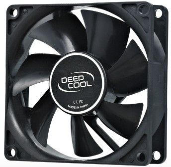 DeepCool XFAN80 80x80x25mm FAN black hydro bearing 1800rpm 21CFM 20dBa