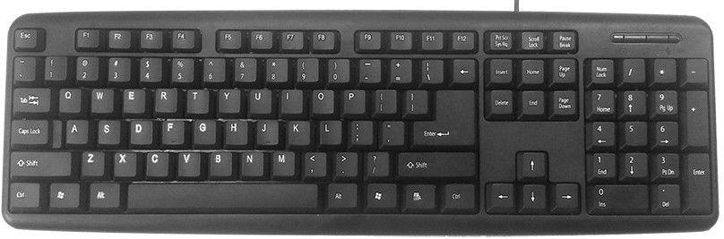 GEMBIRD KB-U-103 Standard keyboard, US layout, black, COLOR BOX, USB