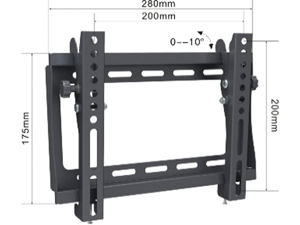 Alpha Support Tilt 1742 nosac za TV 17- 42,do 30kg, crn