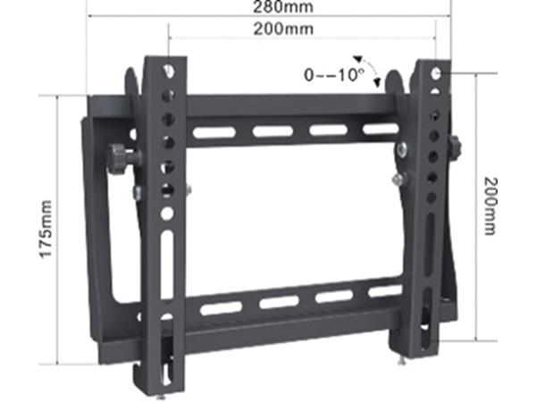 Alpha Support Tilt 1742 nosac za TV 17- 42,do 30kg, crn