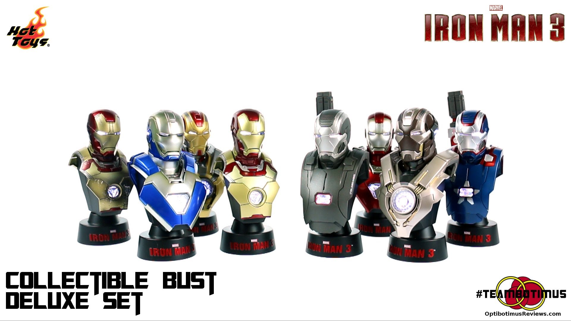 Iron Man 3:  Deluxe 1:6 scale Collectible Bust Set