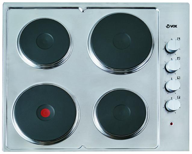 VOX EBX 400EIX INOX ploca,4 gr zone,mehanicke komande,sivi prekidaci,2x145mm,1x180mm I 1x180mm ex