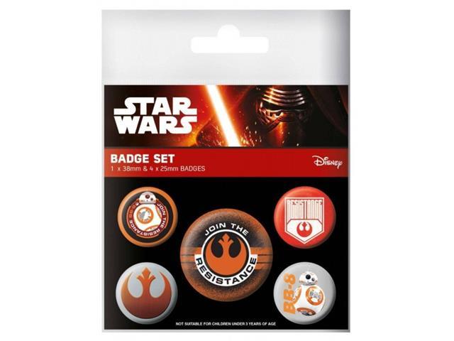 Star Wars - Episode VII Resistance Pin Badges Set (5 Pins)