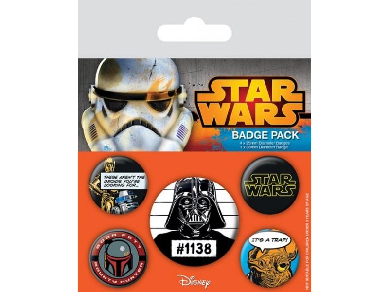 Star Wars - Rebels Pin Badge Pack (5 Pins)