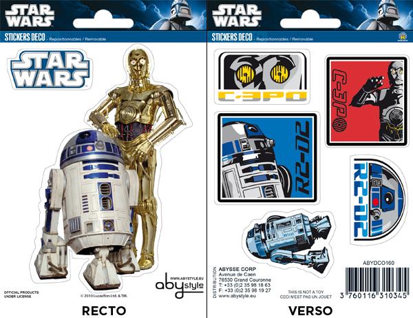 STAR WARS - Stickers - 16x11cm - R2-D2C3PO X5