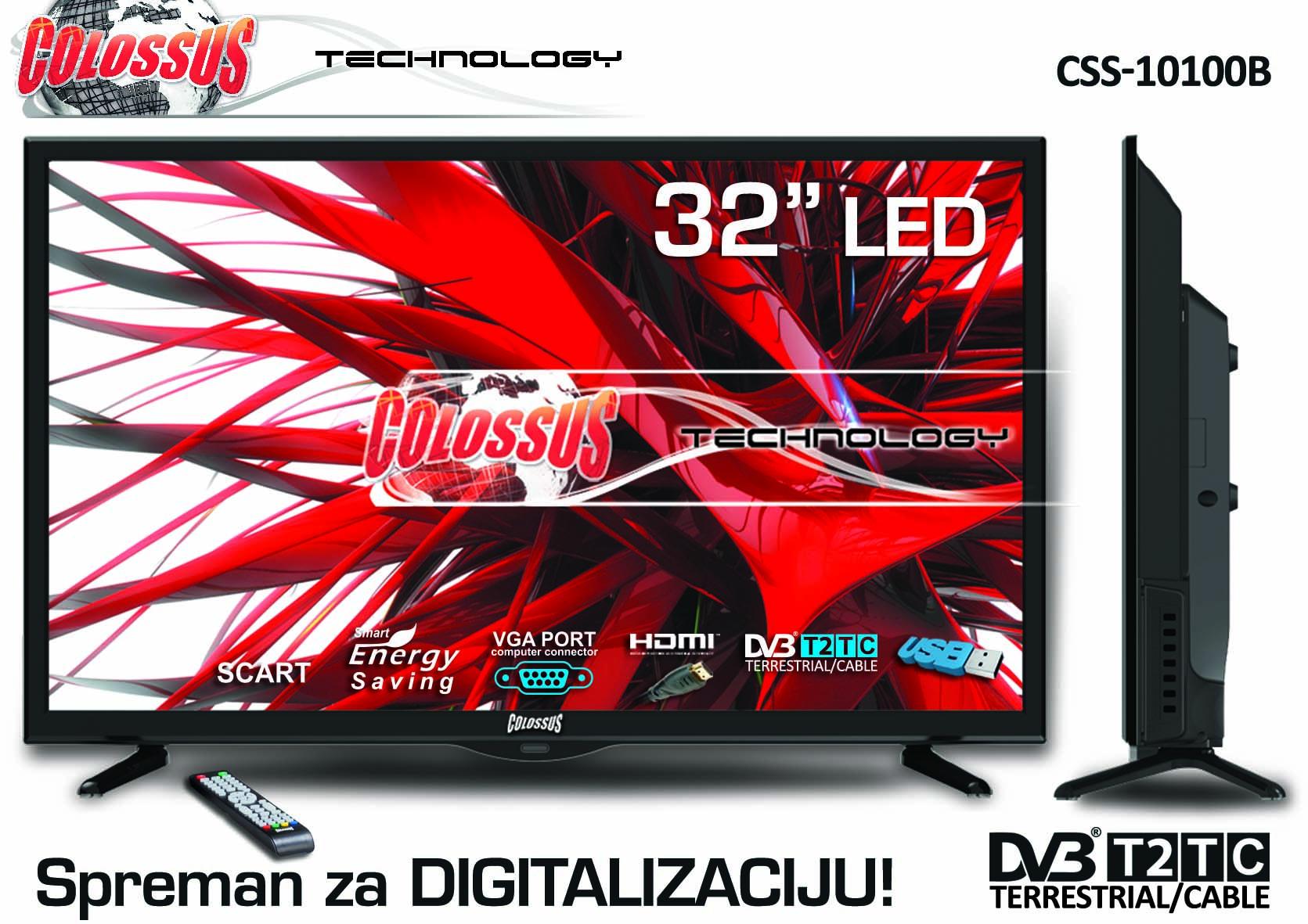 COLOSSUS 32 CSS-10100B T2 ELED TV