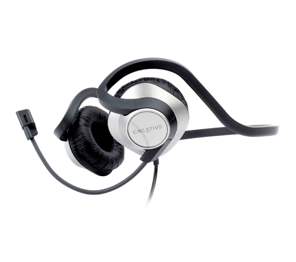 Creative Labs ChatMax HS-420 Headphones with Detachable Microphone, Backhead