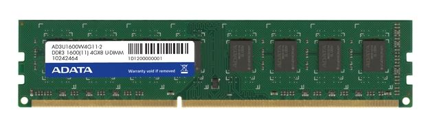 AData DIMM DDR3 4GB 1600MHz AD3U1600W4G11-B bulk