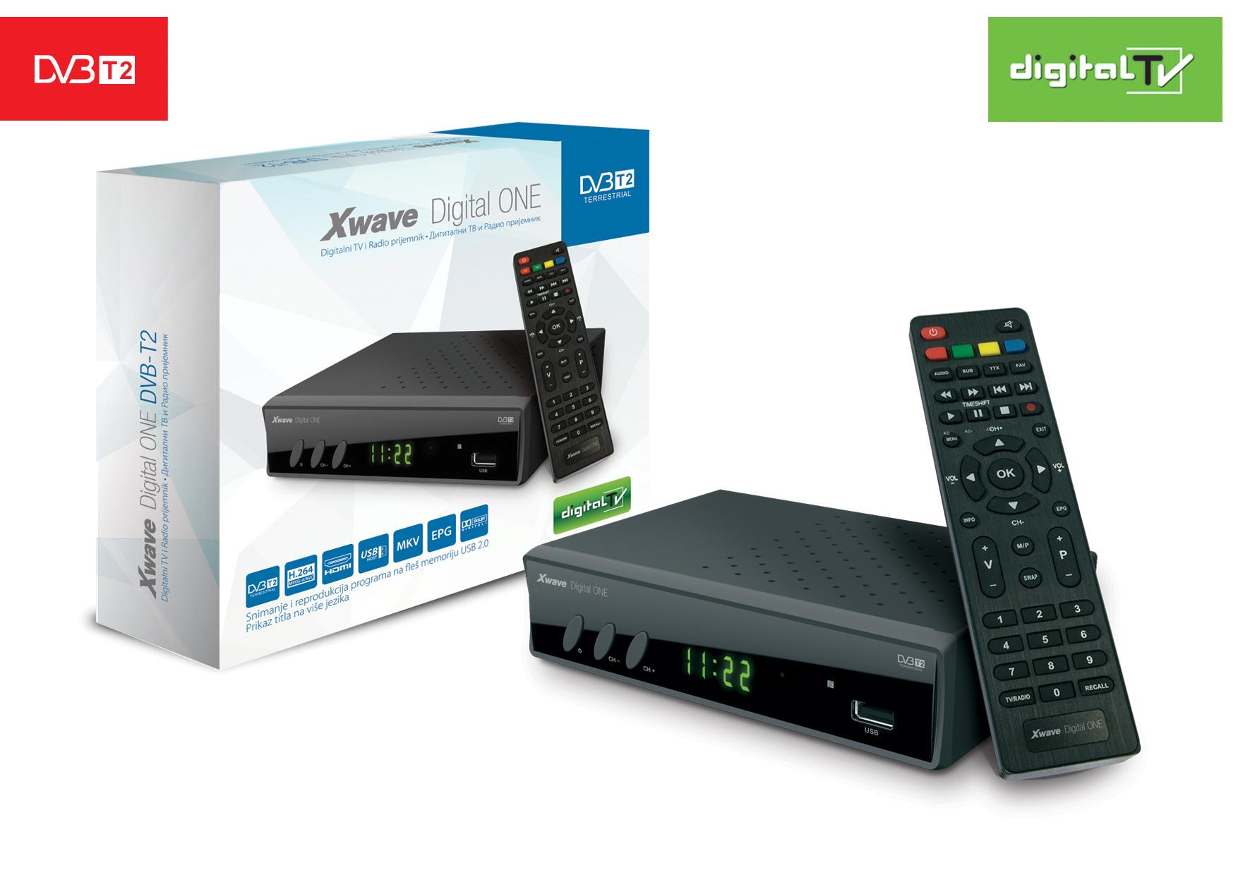 XWAVE Digital ONE DVB-T2 set top box