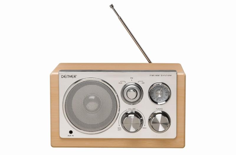 DENVER TR-61 LIGHT WOOD AM/FM Radio