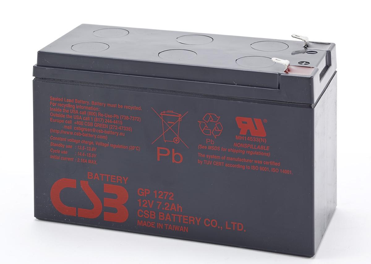 UPS CSB Baterija, 12V- 7,2 Ah  GP1272 F2