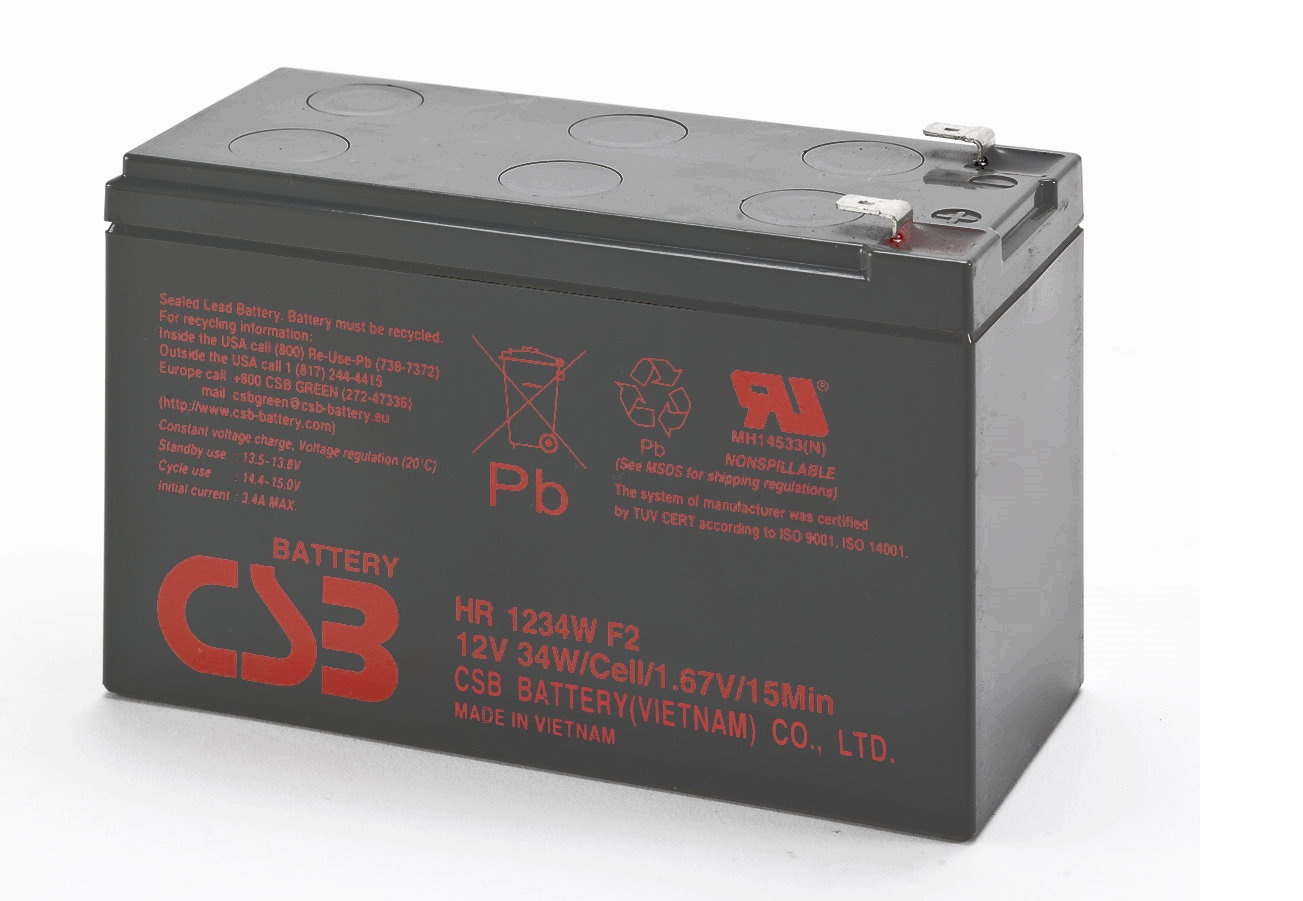 UPS CSB Baterija, 12V- 9 Ah  HR1234W