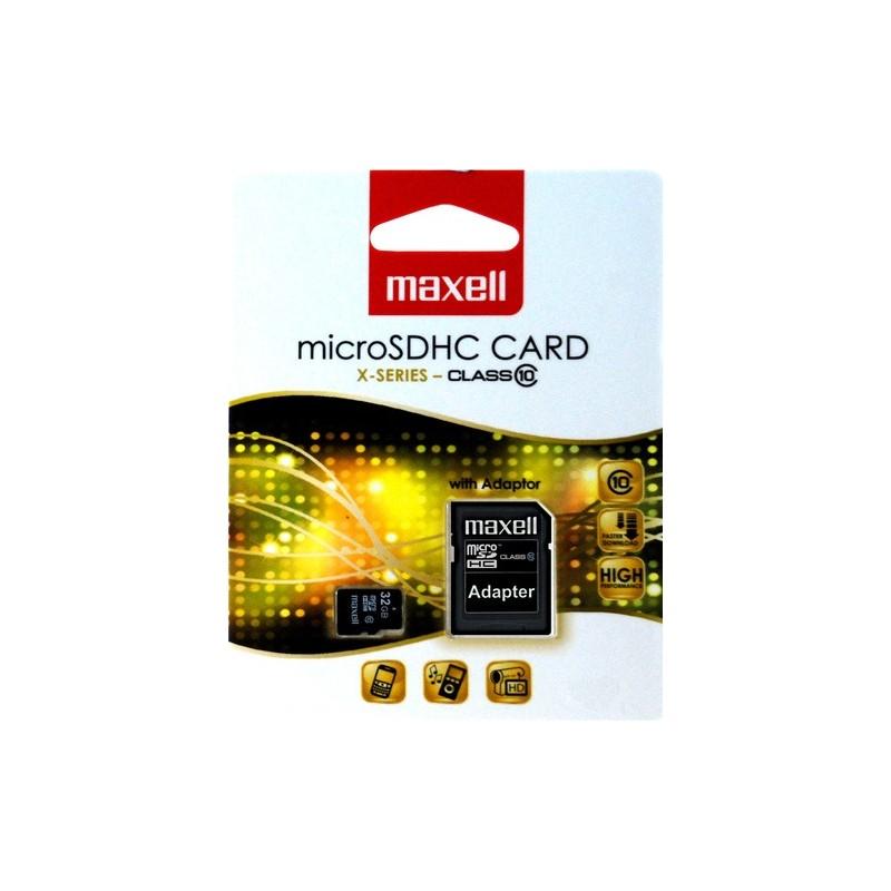 MAXELL MICRO SDHC 32GB X-SERIES+ADAPTER, CLASS 10