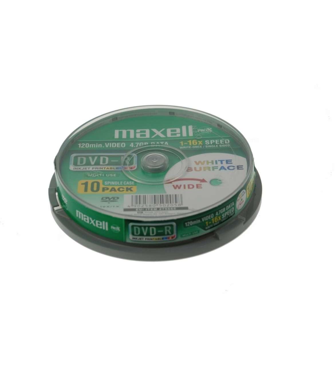 MAXELL DVD-R 4.7GB 16X CB10, PRINTABLE cena po komadu