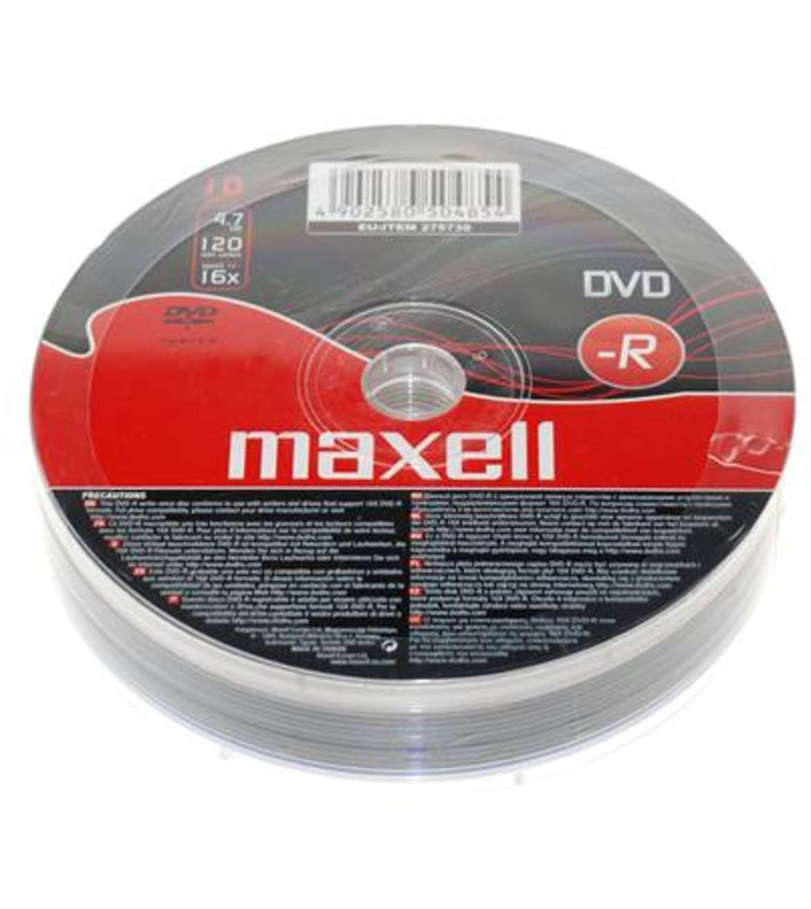 MAXELL DVD-R 4.7GB 16X ECONOMIC 10S