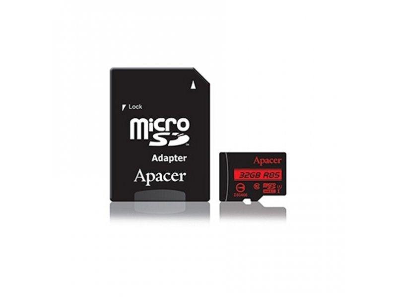 APACER UHS-I U1 MicroSDHC 32GB class 10 + Adapter AP32GMCSH10U5-R