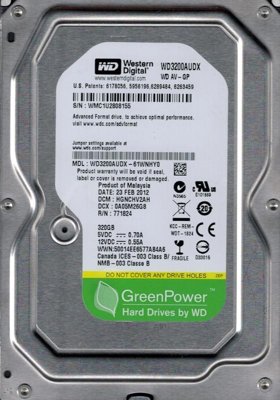 WD 3.5 320GB WD3200AUDX SATA3 7200 32MB