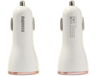 REMAX Auto punjac Dolfin 2x USB 2.4A beli