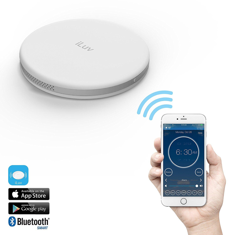 iLuv Bluetooth Smart Alarm Shaker (SmartShaker) White